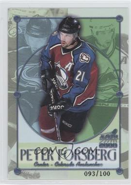 1999-00 Pacific Aurora Championship Fever Ice Blue #7 - Peter Forsberg /100