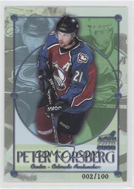 1999-00 Pacific Aurora Championship Fever Ice Blue #7 - Peter Forsberg /100