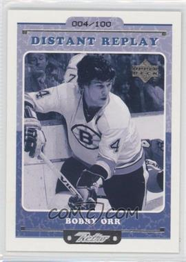 1999-00 Upper Deck Retro - Distant Replay - Level 2 #DR 10 - Bobby Orr /100