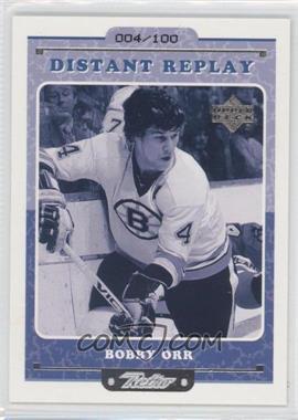 1999-00 Upper Deck Retro Distnat Replay Level 2 #DR 10 - Bobby Orr /100