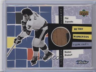 1999-00 Upper Deck Retro Retro Momentos #RM4 - Phil Esposito