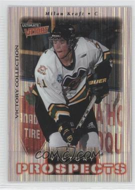 1999-00 Upper Deck Ultimate Victory - [Base] - Victory Collection #110 - Milan Kraft