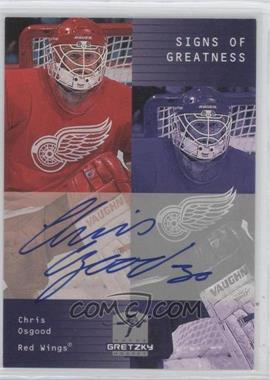 1999-00 Upper Deck Wayne Gretzky Hockey Signs of Greatness [Autographed] #CO - Chris Osgood
