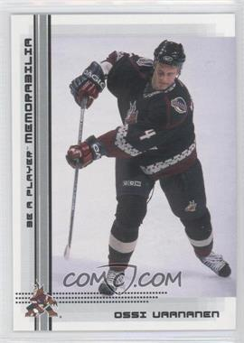 2000-01 In the Game Be A Player Memorabilia - [Base] #484 - Ossi Vaananen