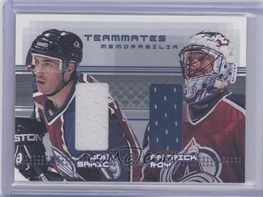 2000-01 In the Game Be A Player Memorabilia Goalies Memorabilia #G-28 - Joe Sakic, Patrick Roy