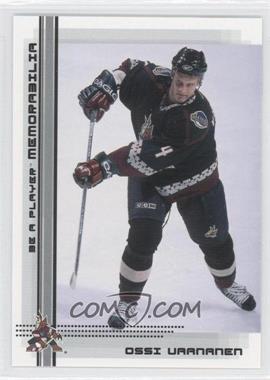 2000-01 In the Game Be A Player Memorabilia #484 - Ossi Vaananen