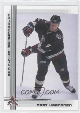 2000-01 In the Game Be A Player Memorabilia #484 - Ossi Vaananen