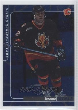 2000-01 In the Game Be A Player Signature Series Sapphire #18 - Jarome Iginla /100
