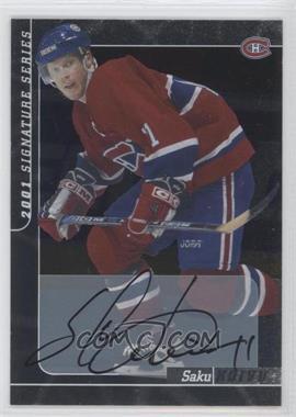 2000-01 In the Game Signature Series Autograph [Autographed] #163 - Saku Koivu