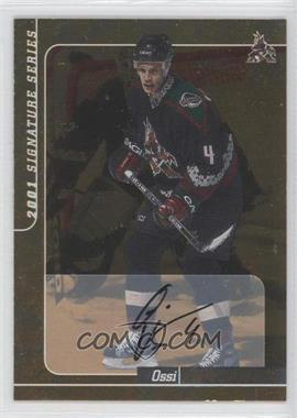 2000-01 In the Game Signature Series Gold Autograph [Autographed] #249 - Ossi Vaananen