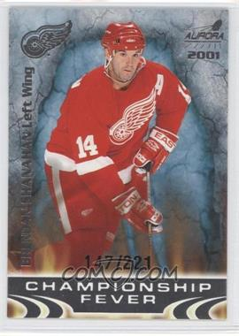 2000-01 Pacific Aurora Championship Fever Platinum Blue #11 - Brendan Shanahan /221