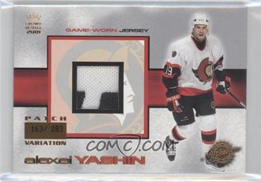 2000-01 Pacific Crown Royale Game-Worn Jerseys Patch #18 - Alexei Yashin /283