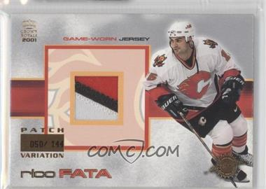 2000-01 Pacific Crown Royale Game-Worn Jerseys Patch #3 - Rico Fata /144