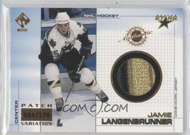 2000-01 Pacific Private Stock - Game-Used Gear - Patch #37 - Jamie Langenbrunner /178