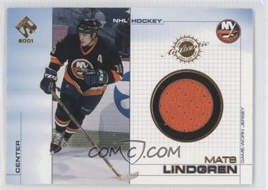2000-01 Pacific Private Stock - Game-Used Gear #71 - Mats Lindgren