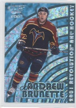 2000-01 Pacific Revolution Shadow Series Blue #5 - Andrew Brunette /85