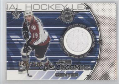 2000-01 Pacific Vanguard Dual Game-Worn Jerseys #3 - Joe Sakic, Eric Lindros /250