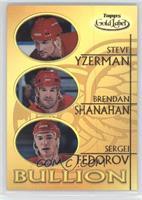 Steve Yzerman, Brendan Shanahan, Sergei Fedorov
