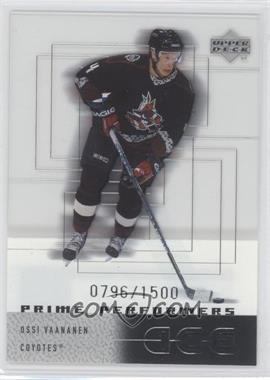 2000-01 Upper Deck Ice #119 - Ossi Vaananen