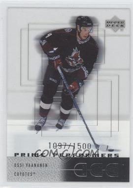 2000-01 Upper Deck Ice #119 - Ossi Vaananen /1500