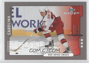 2000-01 Upper Deck MVP - [Base] - Third Star #38 - Rod Brind'Amour