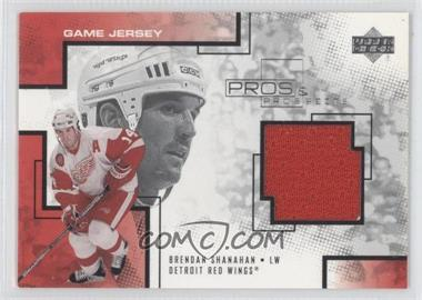 2000-01 Upper Deck Pros & Prospects Game Jerseys #BS - Brendan Shanahan