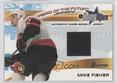 2001-02 Bowman YoungStars Fabric of the Future Jerseys #FFJ-MF - Mike Fisher