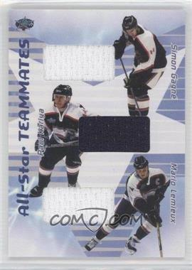2001-02 In the Game Be A Player All-Star Teammates Jerseys #AST-02 - Simon Gagne, Paul Kariya, Mario Lemieux
