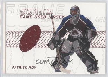 2001-02 In the Game Be A Player Memorabilia - Goalie Jerseys #GJ-06 - Patrick Roy /80