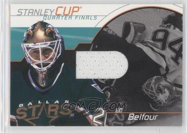 2001-02 In the Game Be A Player Memorabilia - Stanley Cup Jerseys #SC-13 - Ed Belfour /95