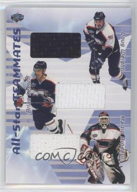 2001-02 In the Game Be A Player Memorabilia All-Star Teammates Jerseys #AST-04 - Doug Weight, Brian Leetch, Martin Brodeur /80