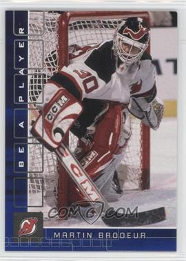 2001-02 In the Game Be A Player Memorabilia Sapphire #40 - Martin Brodeur /100