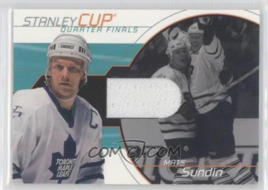 2001-02 In the Game Be A Player Memorabilia Stanley Cup Jerseys #SC-01 - Mats Sundin /95
