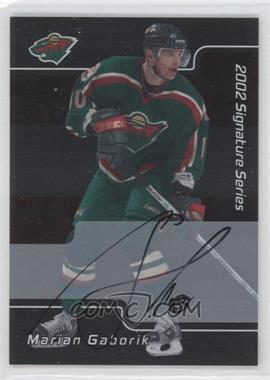 2001-02 In the Game Be A Player Signature Series Autograph [Autographed] #084 - Marian Gaborik