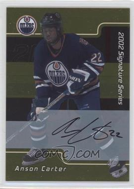 2001-02 In the Game Be A Player Signature Series Gold Autograph [Autographed] #011 - Anson Carter