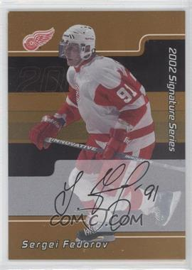 2001-02 In the Game Be A Player Signature Series Gold Autograph [Autographed] #LSF - Sergei Fedorov