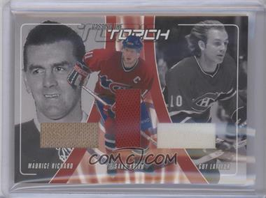 2001-02 In the Game Be A Player Update Passing the Torch Jerseys #PT-04 - Maurice Richard, Saku Koivu, Guy Lafleur