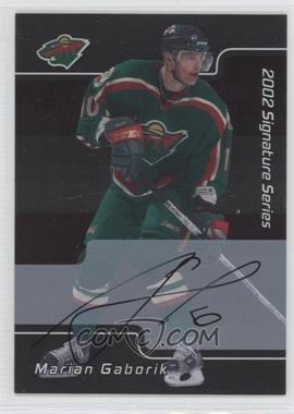 2001-02 In the Game Signature Series Autograph [Autographed] #084 - Marian Gaborik