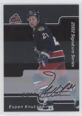 2001-02 In the Game Signature Series Autograph [Autographed] #181 - Espen Knutsen