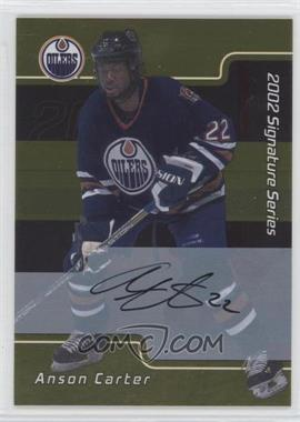 2001-02 In the Game Signature Series Gold Autograph [Autographed] #011 - Anson Carter