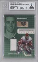 Jacques Plante, Dominik Hasek /25000 [BGS AUTHENTIC]