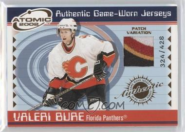 2001-02 Pacific Atomic - Game-Worn Jerseys - Patch #27 - Valeri Bure /428