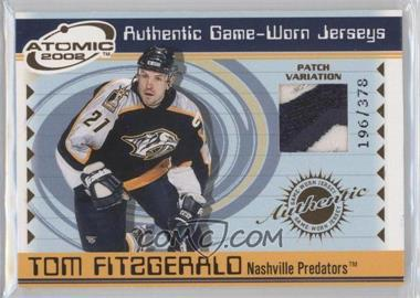 2001-02 Pacific Atomic - Game-Worn Jerseys - Patch #35 - Tom Fitzgerald /378