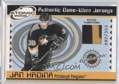 2001-02 Pacific Atomic - Game-Worn Jerseys - Patch #44 - Jan Hrdina /353