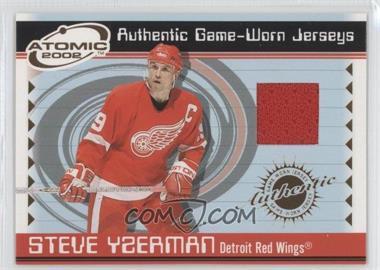 2001-02 Pacific Atomic - Game-Worn Jerseys #26 - Steve Yzerman