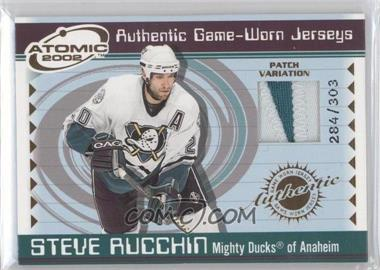 2001-02 Pacific Atomic Game-Worn Jerseys Patch #2 - Steve Rucchin /303