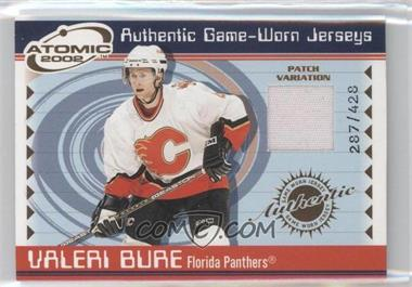 2001-02 Pacific Atomic Game-Worn Jerseys Patch #27 - Valeri Bure /428