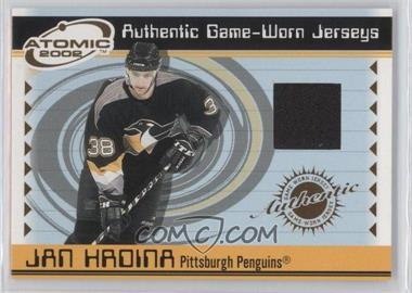 2001-02 Pacific Atomic Game-Worn Jerseys Patch #44 - Jan Hrdina /353