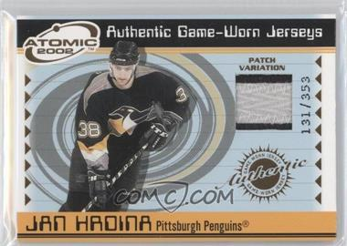 2001-02 Pacific Atomic Game-Worn Jerseys Patch #44 - Jan Hrdina /353