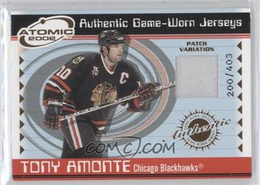 2001-02 Pacific Atomic Game-Worn Jerseys Patch #8 - Tony Amonte /403